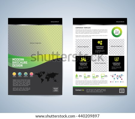 Business brochure flyer design layout template. Business brochure, flyer, magazine cover design template vector.layout education annual report A4 size.