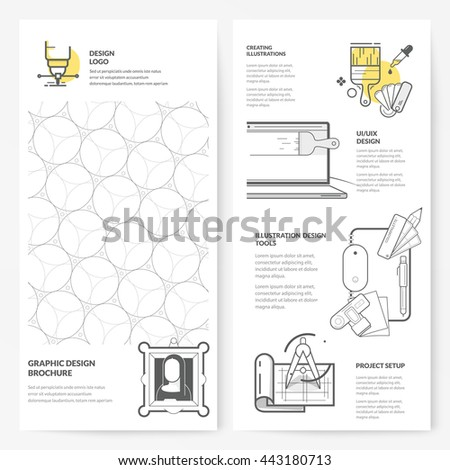 Business brochure flyer design layout template: Graphic design brochure