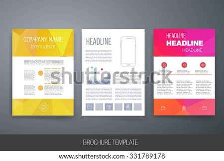 brochure mailer template - templates square brochure leaflet cover presentation stock