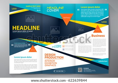 Business Brochure Flyer Design Leaflets 3 Stock Vector 622639844 ...
