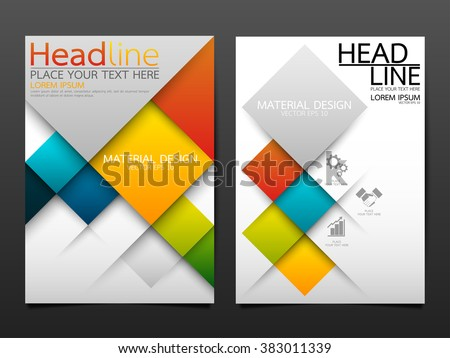 business brochure flyer design template vectorgeometricのベクター