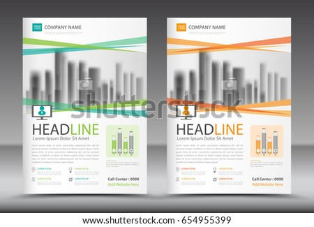 Business Brochure Flyer Template Annual Report Stock Vector