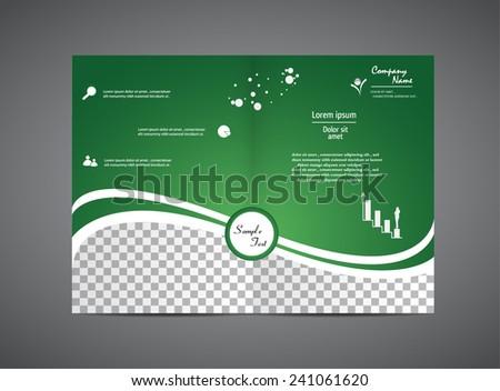 Business Brochure in Green - stock vector