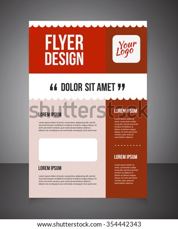 Business Brochure Offer Flyer Design Template Stock-Vektorgrafik ...