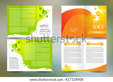 Flyer brochure design template abstract fruit stock vector for Apple brochure templates