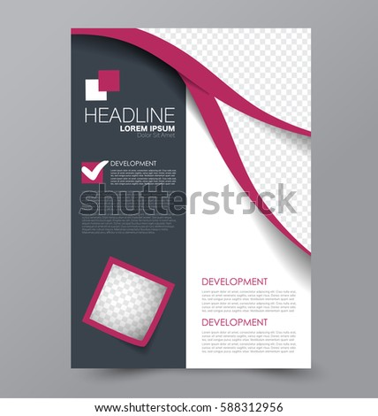 Business Brochure Template Flyer Design Annual Stock Vector