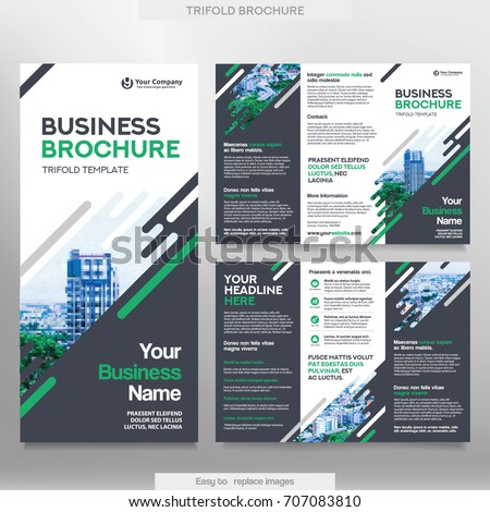 Business Brochure Template Tri Fold Layout Stock Vector - Business brochure template