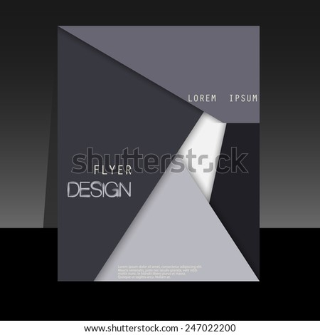 business brochure template or corporate banner design - stock vector