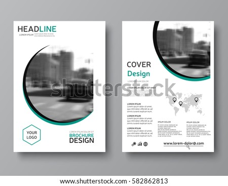 Business Brochure Template Trendy Corporate Identity Stock Vector