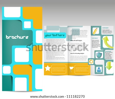 Business brochure template with inner pages for document, publishing and presentation - stock vector