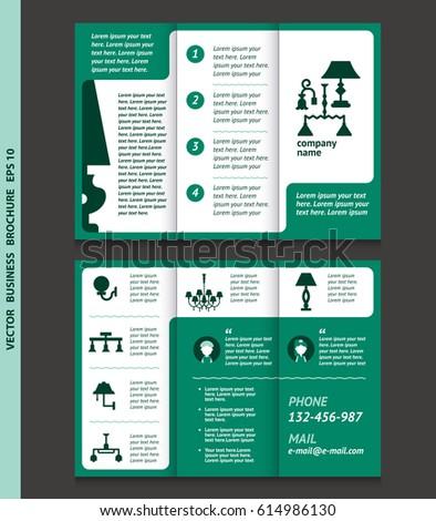 Business Brochure Template Lamps Chandeliers Vector Stock Vector ...