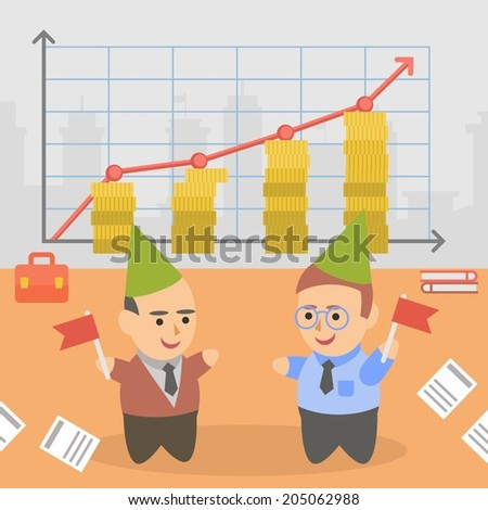 business businessman client pairs character - stock vector