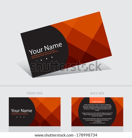 Business card abstract background templete. Vector illustration. - stock vector