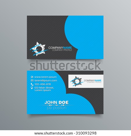 business card background design template stock stock vector