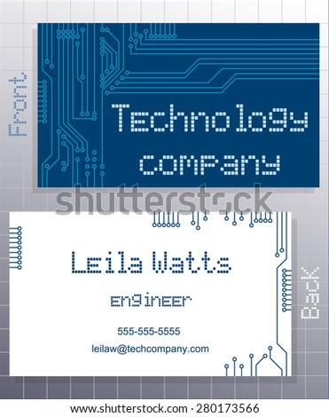 Business card blue card label stylized stock vector 280173566 business card blue card label with stylized representation of a computer circuit board closeup colourmoves