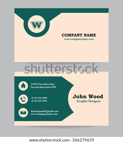Business Card Template Design Modern Vector