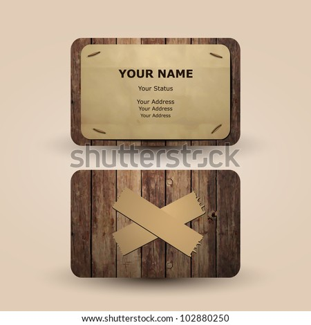 Business Card Design - stock vector
