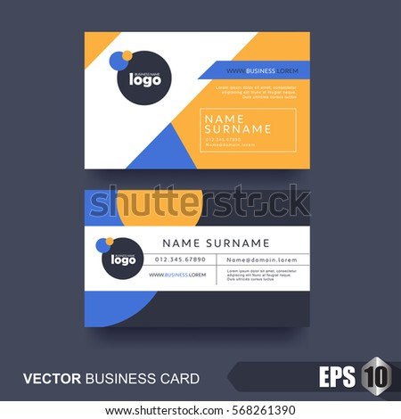 Business card design layout template clean stock vector 568261390 business card design layout template with clean and modern patternvector illustration reheart Gallery