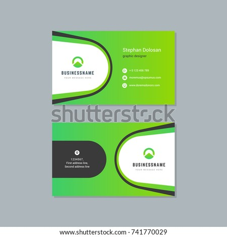 Business Card Design Template Abstract Modern Stock Vector - Business card design templates
