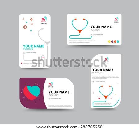 business card design template leaflet business のベクター画像素材