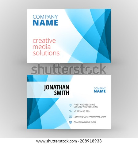 Business card design template vector background stock vector business card design template vector background reheart Gallery