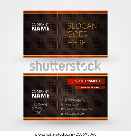 Business Card Design Template Vector Background Stock Vector Hd