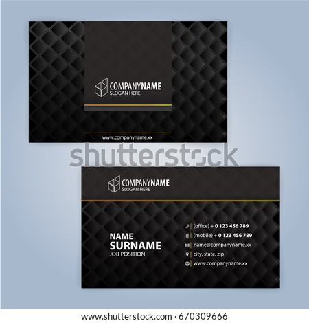 Business card design templates luxury graphic stock vector 2018 business card design templates luxury graphic design cheaphphosting Images