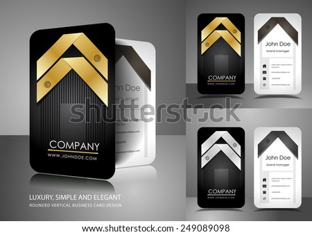 Business card design with ribbons - stock vector