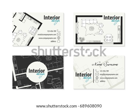 Business card interior designer decorator stock vector royalty free business card for interior designer decorator colourmoves