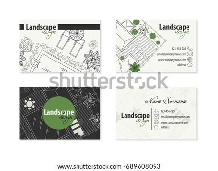 Business card landscape designer stock vector 689608093 shutterstock business card for landscape designer malvernweather Gallery