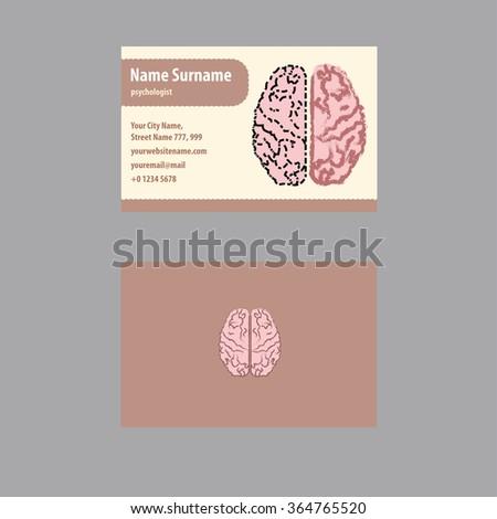 Business card psychologist psychiatrist stock vector hd royalty business card for psychologist and psychiatrist colourmoves