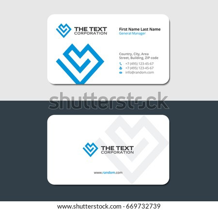 Business card life insurance company stock vector 2018 669732739 business card for the life insurance company colourmoves