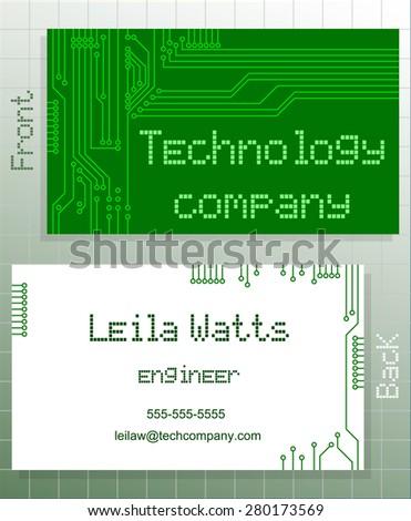 Business card green card label stylized stock vector 2018 business card green card label with stylized representation of a computer circuit board closeup colourmoves