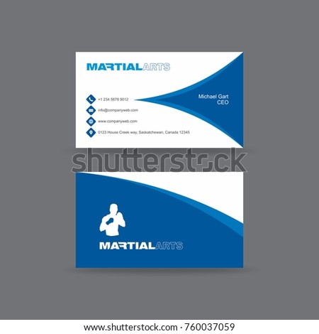Business card having half cut blue stock vector 2018 760037059 business card having half cut blue diamond shape in front and blue curved border in back colourmoves