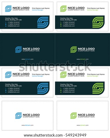 Business card internet service provider smart stock vector 549243949 business card internet service provider smart colored cards blue and green colors colourmoves