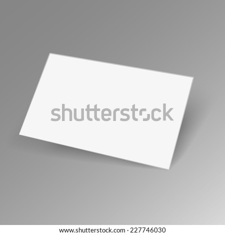 Business card mockup vector stock vector 227746030 shutterstock business card mockup vector reheart Image collections