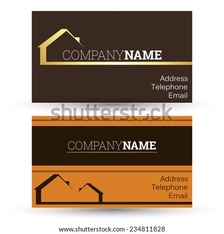 business card real estate sales, vector - stock vector