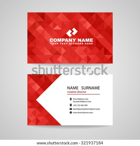 red white modern business card template stock vector 641070175