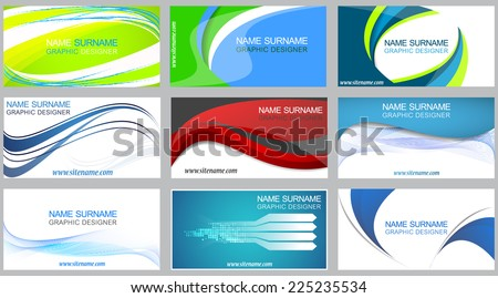 Business card set, creative corporate visiting cards