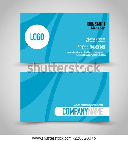 Business card set template blue white stock vector 220728076 business card set template blue and white color vector illustration reheart Image collections