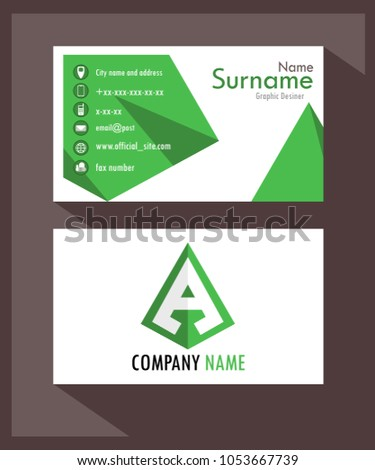 Business Card Stylish Professional Fashion For Real Bosses And Companies Green Color Base