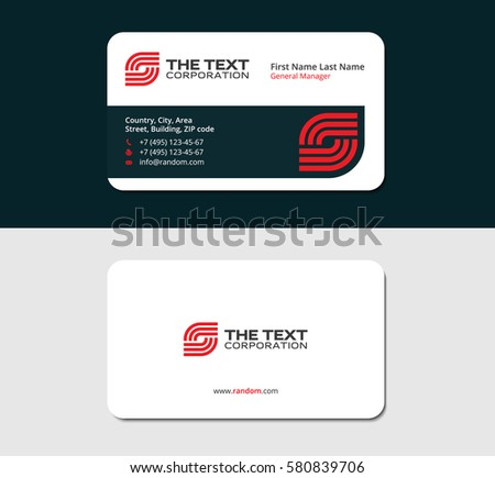 Business card telecommunication red color two stock vector 580839706 business card telecommunication red color two sided cards white background reheart Image collections