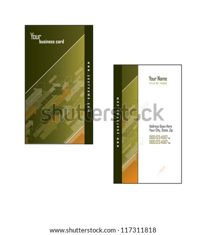 Business Card Template. - stock vector
