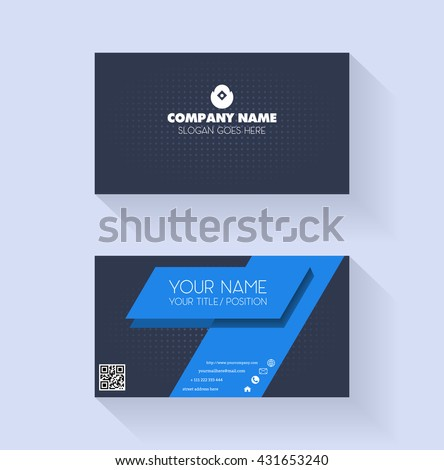 Business Card Template Stock Vector Shutterstock - Publisher business card templates