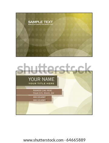Business Card Template - stock vector