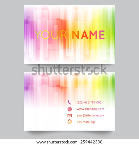 Business card template abstract bright rainbow stock photo photo business card template abstract bright rainbow on white background vector illustration for modern design reheart Choice Image