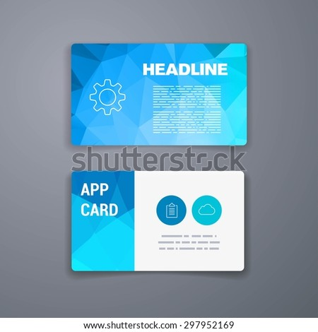Business card template abstract vector template stock vector business card template abstract vector template layout design for flyer placard brochure or cheaphphosting Images