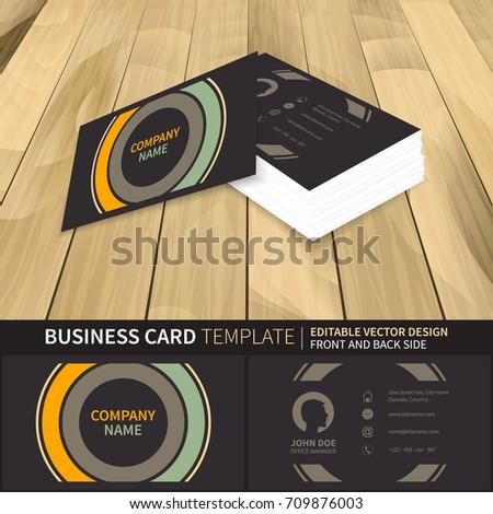 Business Card Template Creative Vector Mockup Stock Vector - Business card preview template