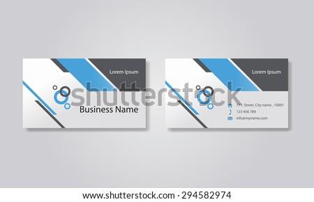 business card template design backgrounds .vector editable - stock vector
