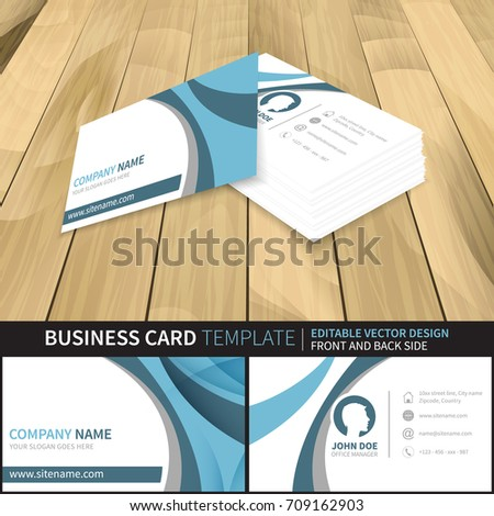 Business card template editable vector design stock vector business card template editable vector design with front and back side suitable for printing reheart Image collections